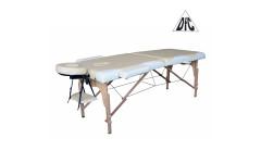 Массажный стол DFC NIRVANA, Relax, дерев. ножки, цвет бежевый + кремовый