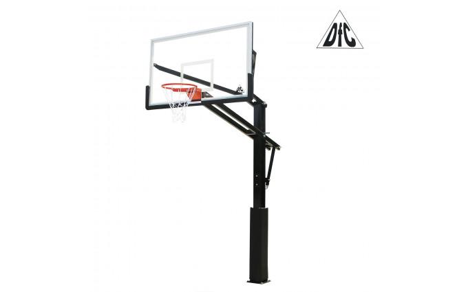 Баскетбольная стационарная стойка DFC ING72GU 180x105см стекло 10мм