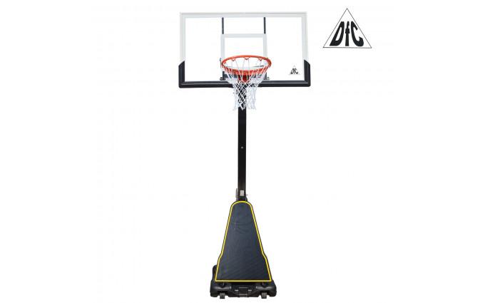 Баскетбольная мобильная стойка Dfc Stand54g 136x80cm стекло (два короба)