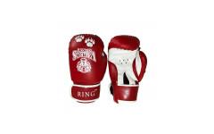 Перчатки боксерские VagroSport RING RS910, 10 унций, красный