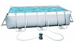 Каркасный бассейн Power Steel 404х201х100 см, с фильтром насосом
