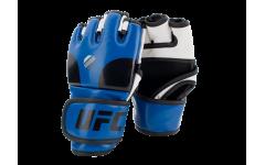 Перчатки MMA тренировочные с открытой ладонью (Синие S/M) UFC